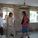 Aufenthaltsraum während der Renovierung